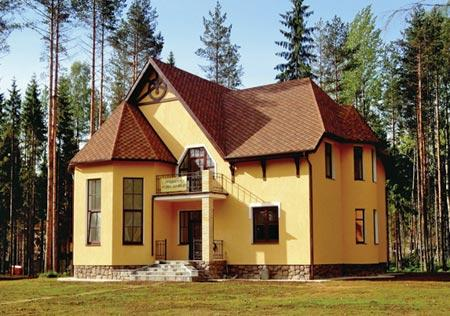 Двухэтажный дом 6 на 6 Проект с балконом и террасой